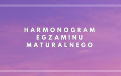Harmonogram egzaminów