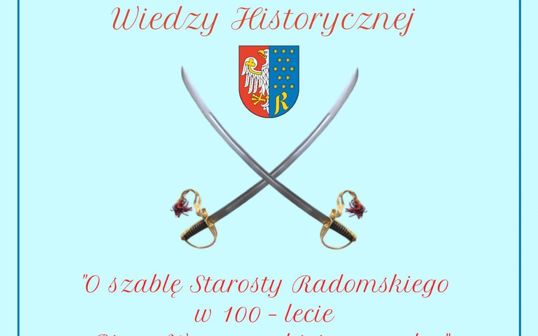 Internetowy quiz historyczny Powiatu Radomskiego z okazji 100-lecia Bitwy Warszawskiej. Do zdobycia nagrody!